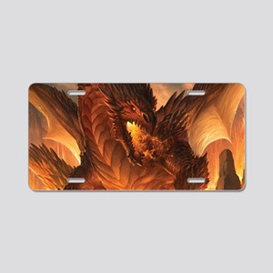 Angry Dragon Aluminum License Plate