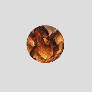 Angry Dragon Mini Button