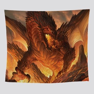 Angry Dragon Wall Tapestry