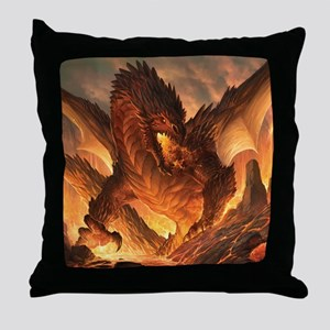 Angry Dragon Throw Pillow