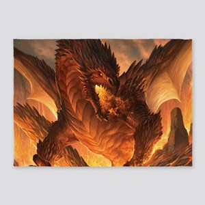 Angry Dragon 5'x7'Area Rug