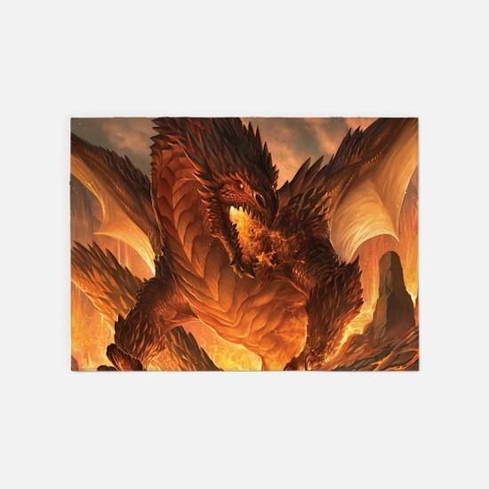 Angry Dragon 5'x7'Area Rug