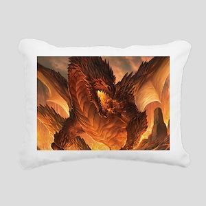 Angry Dragon Rectangular Canvas Pillow