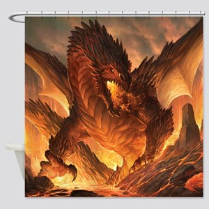 Angry Dragon Shower Curtain