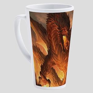 Angry Dragon 17 oz Latte Mug