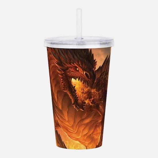 Angry Dragon Acrylic Double-wall Tumbler