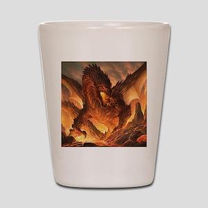 Angry Dragon Shot Glass