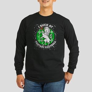 I Suck At Fantasy Footbal Long Sleeve Dark T-Shirt
