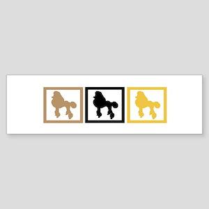 Poodle Sticker (Bumper)