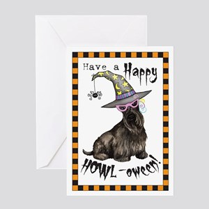 Halloween Scottie Greeting Card