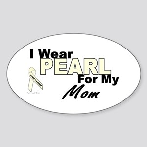 I Wear Pearl 3 (Mom LC) Oval Sticker
