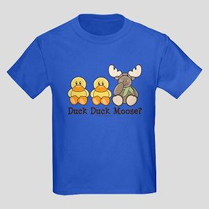 Funny Duck Duck Moose Kids Dark T-Shirt