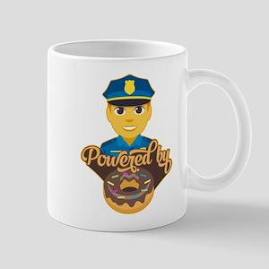 Emoji Police Donut 11 oz Ceramic Mug