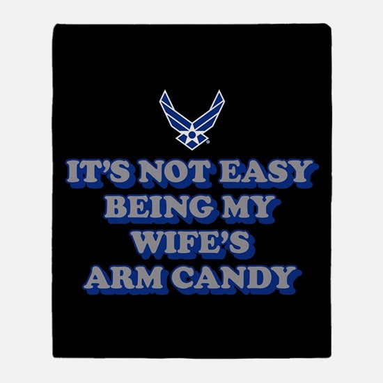 USAF Wife's Arm Candy Throw Blanket