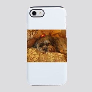 Kona Lhasa type dog relaxing iPhone 8/7 Tough Case