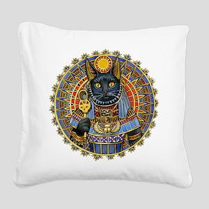 Egyptian CAT GODDESS Square Canvas Pillow