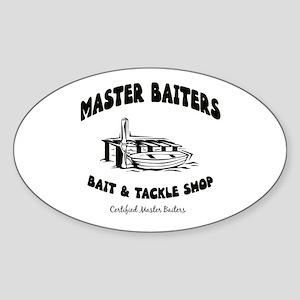 Master Baiters Oval Sticker