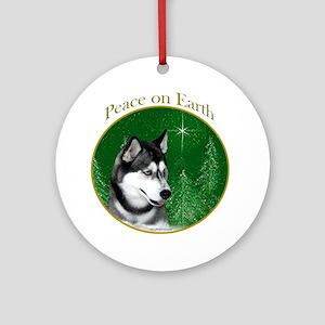 Husky Peace Ornament (Round)