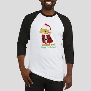 Goldendoodle Santa Claus Baseball Tee