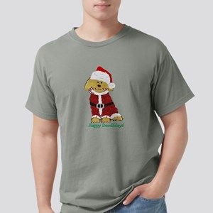 Goldendoodle Santa Claus Mens Comfort Colors Shirt