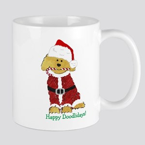 Goldendoodle Santa Claus 11 oz Ceramic Mug