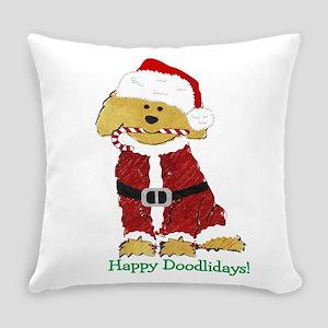Goldendoodle Santa Claus Everyday Pillow