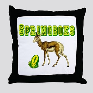 Springbok Rugby Throw Pillow