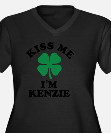 Unique Kenzie Women's Plus Size V-Neck Dark T-Shirt