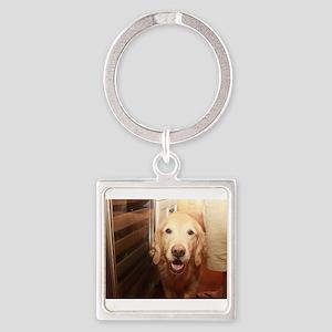 candid Nala golden retriever dog peeking Keychains
