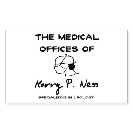 Harry P. Ness Rectangle Sticker