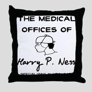 Harry P. Ness Throw Pillow