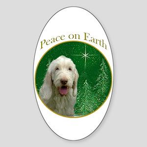 Spinone Peace Oval Sticker