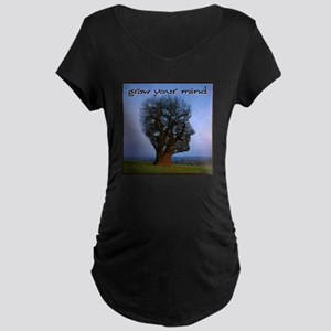 Grow Your Mind Maternity Dark T-Shirt