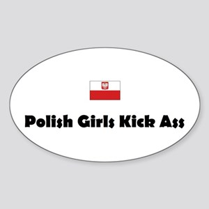 Polish Girls Oval Sticker