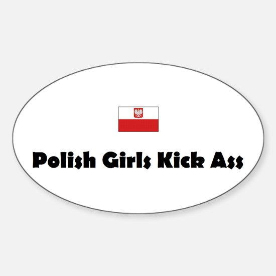 Polish Girls Oval Decal