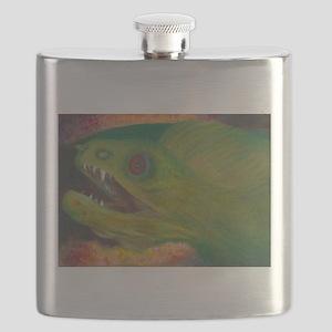 Green moray eel Flask