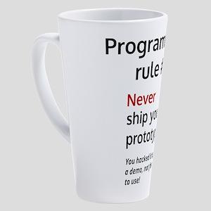 Programmer's rule #1 17 oz Latte Mug