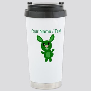 Custom Green Bunny Mugs