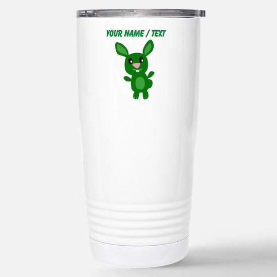 Custom Green Bunny Mugs