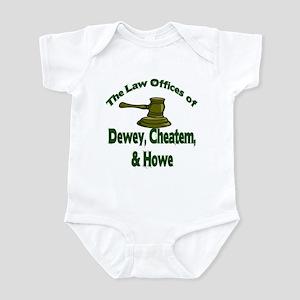 Dewey, cheatem, and howe Infant Bodysuit
