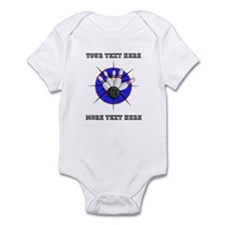 Personalized Bowling Baby Light Bodysuit