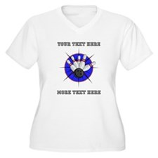 Personalized Bowl Women's Plus Size V-Neck T-Shirt