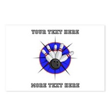 Personalized Bowling Postcards (Package of 8)