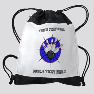 Personalized Bowling Drawstring Bag
