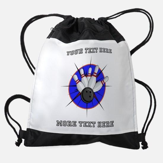 Personalized Bowling Drawstring Bag