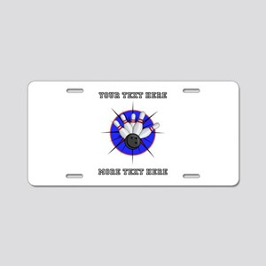 Personalized Bowling Aluminum License Plate