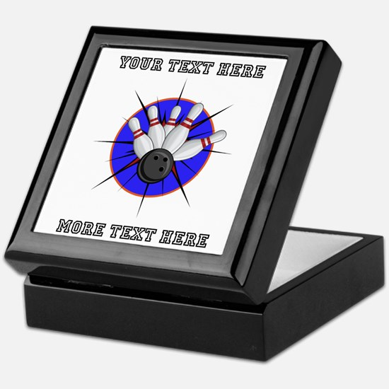 Personalized Bowling Keepsake Box