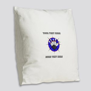 Personalized Bowling Burlap Throw Pillow