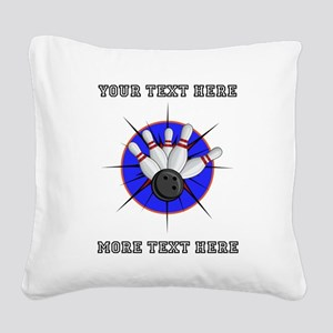 Personalized Bowling Square Canvas Pillow