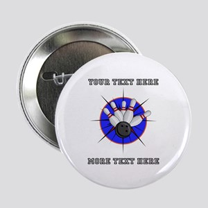 "Personalized Bowling 2.25"" Button"